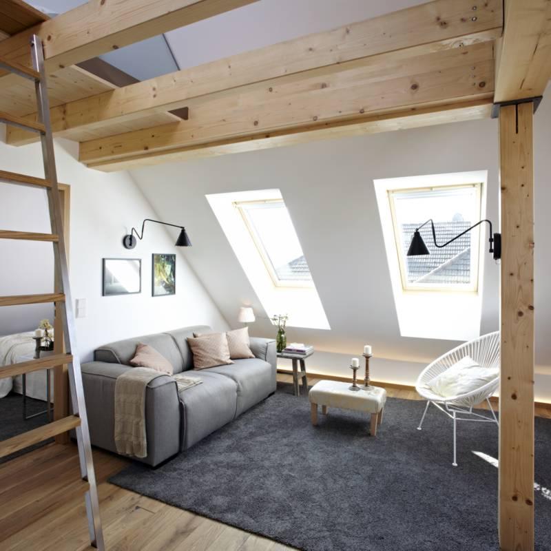 Die gro e dachwohnung mit galerie k nigsschlaf for Wohnung dekorieren spielen kostenlos